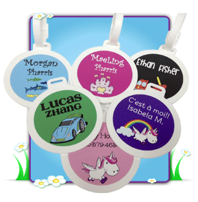 bag tags kiddo tags custom name labels for kids and babies 1 888